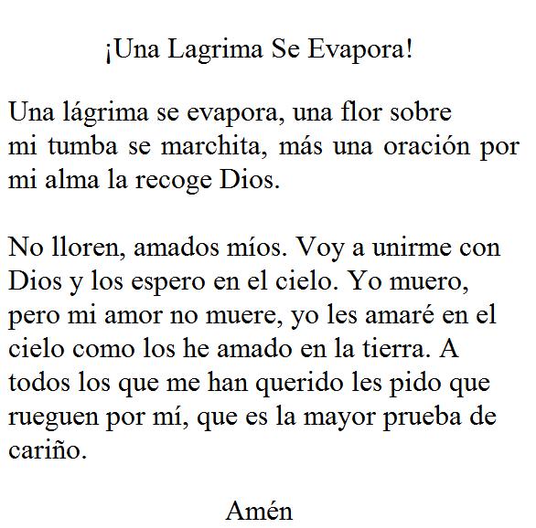 Oracion A Mi Hermano Fallecido Amro Fwd Fallece Estela