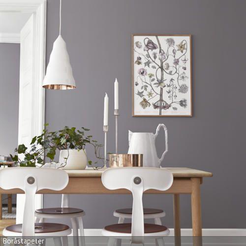 Graue Wandfarbe Farbkonzept, Wandfarbe und Wirken - esszimmer in grau