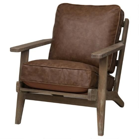Powell Armchair  Cobble Brown   2