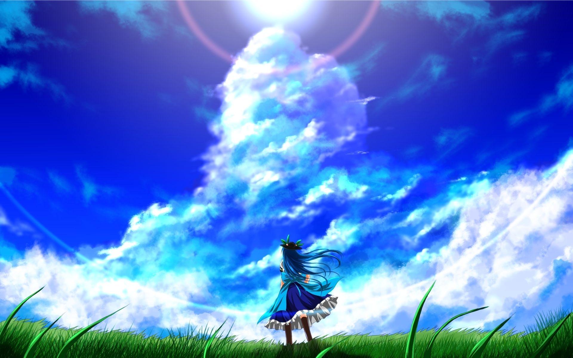 Touhou Collection nubes del cielo hinanawi tenshi animado