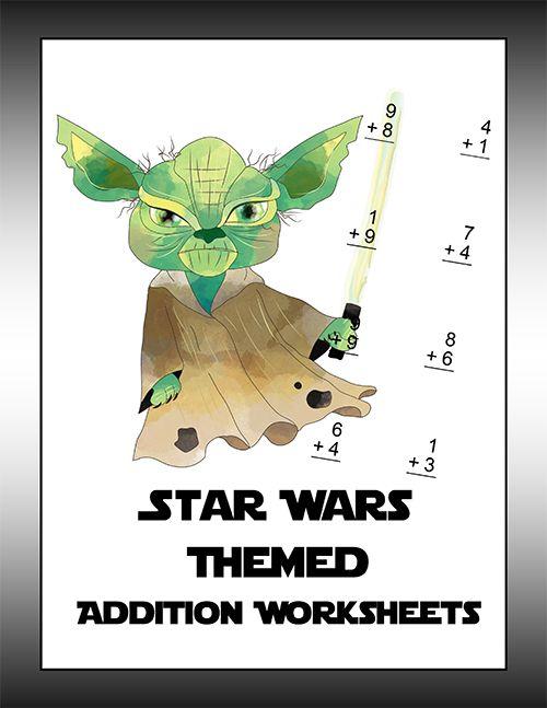 Star Wars Themed Math Packs Math Worksheets Star Wars Theme Addition Worksheets