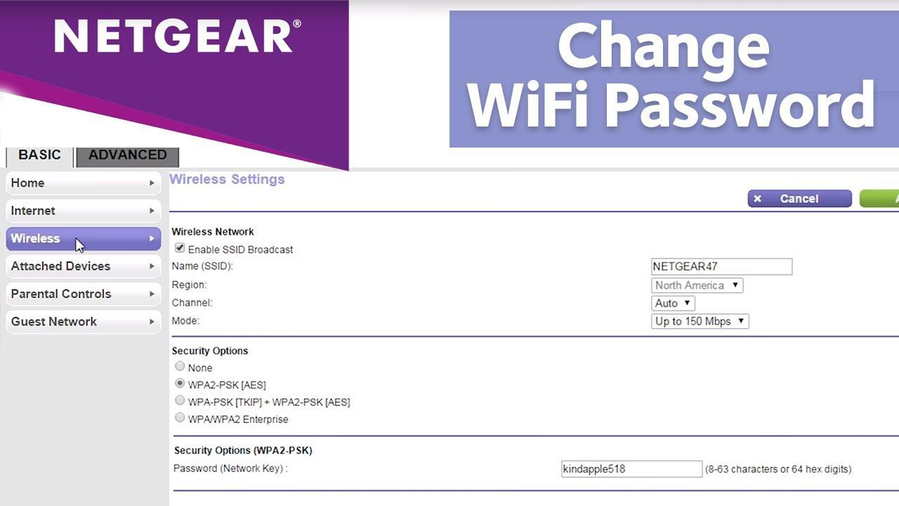 How To Change Wifi Name And Password Netgear Router Netgear Wifi Names