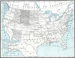 Map of the United States after the Civil war. This shows what land ...