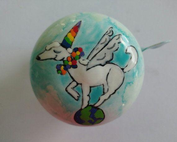 You are my Unicorn Flowers Rainbow Horn Bicycle Handlebar Bike Bell