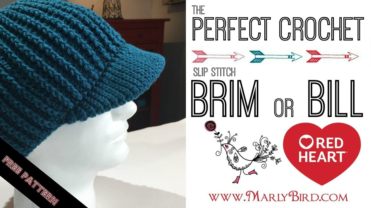 Perfect Crochet Slip Stitch Brim | Knitting Video | Pinterest ...