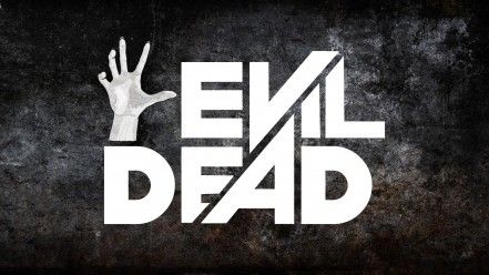 Grunge typography evil dead movie posters background wallpaper