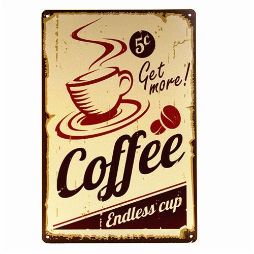 DL-CAFE MENU KNOW YOUR COFFEE TIN SIGN Old Wall Metal Painting ART ...