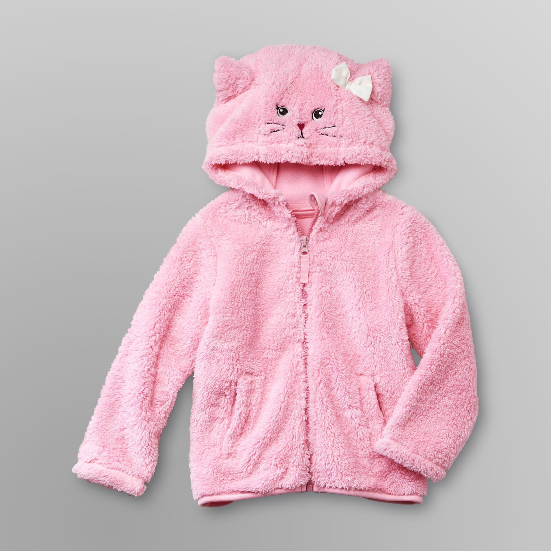dc750aabca080 WonderKids Infant & Toddler Girl's Plush Fleece Jacket - Kitty Cat ...