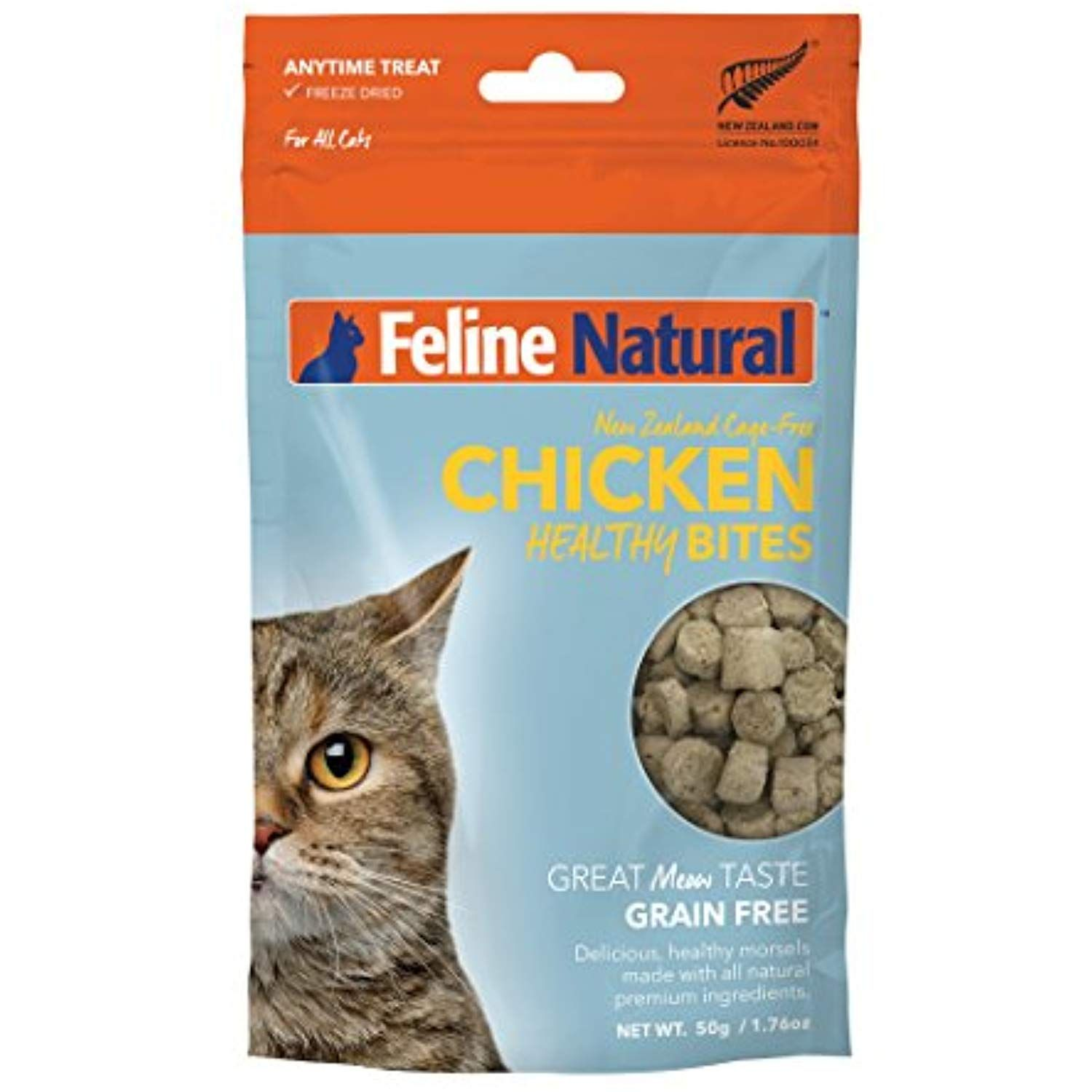 Freeze dried cat treats by feline natural perfect grain