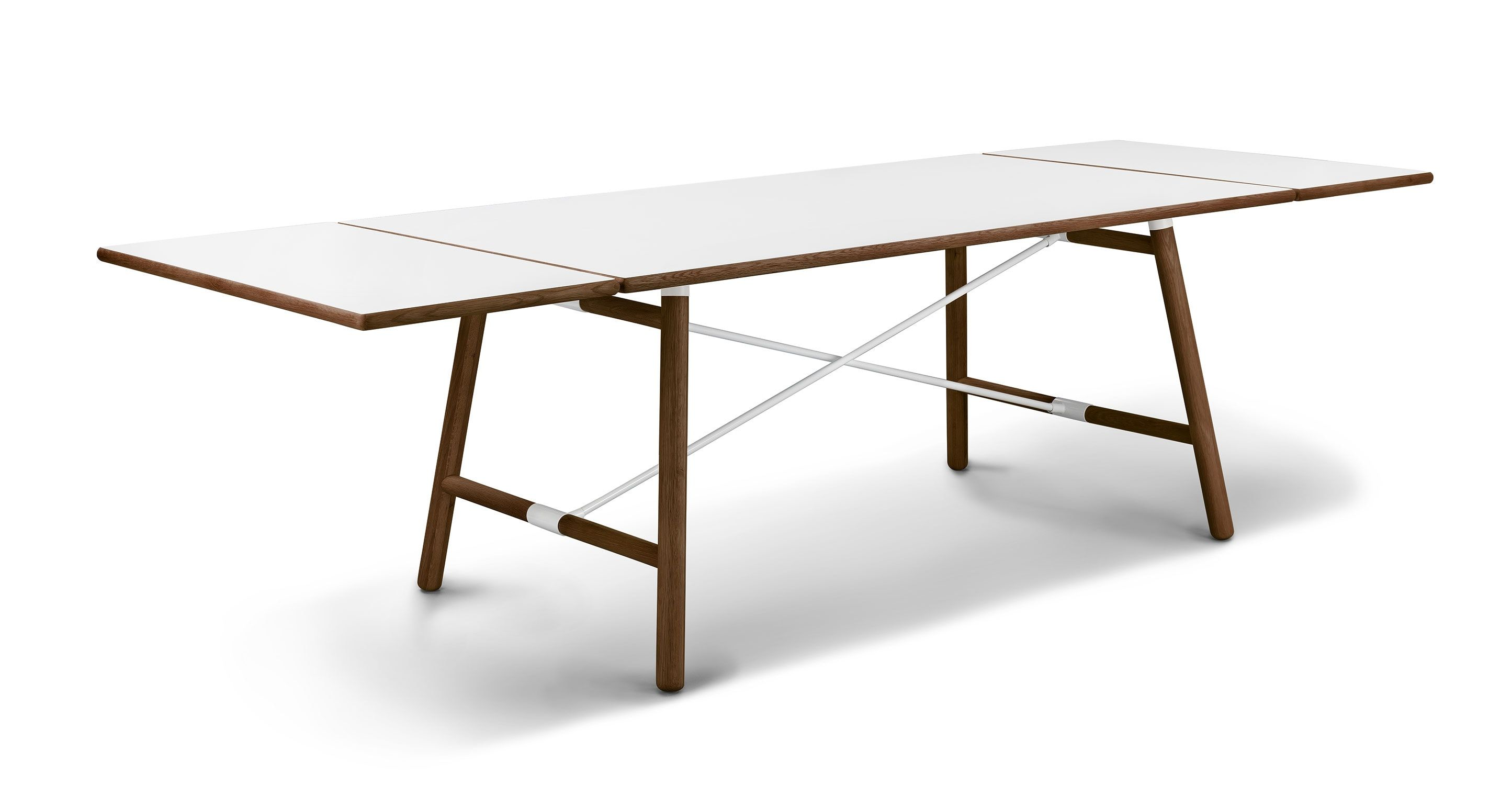 Danish Mid Century Modern Extendable Rosewood Dining Table With