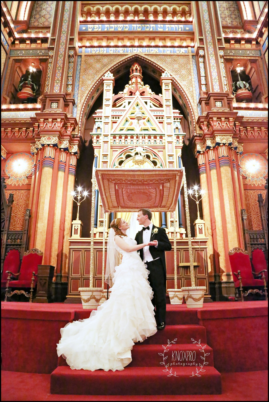 Bride Groom Church Portrait At Plum Street Isaac M Wise Temple In Cincinnati Oh By K Cincinnati Weddings Cincinnati Wedding Photographers Wedding Portraits