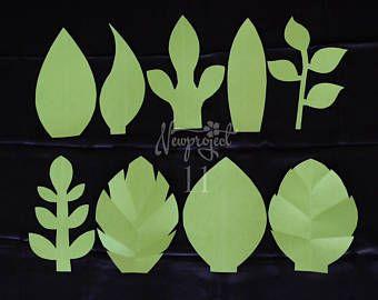 Plantilla De Hoja Pdf Flor De Paper Plantillas Para