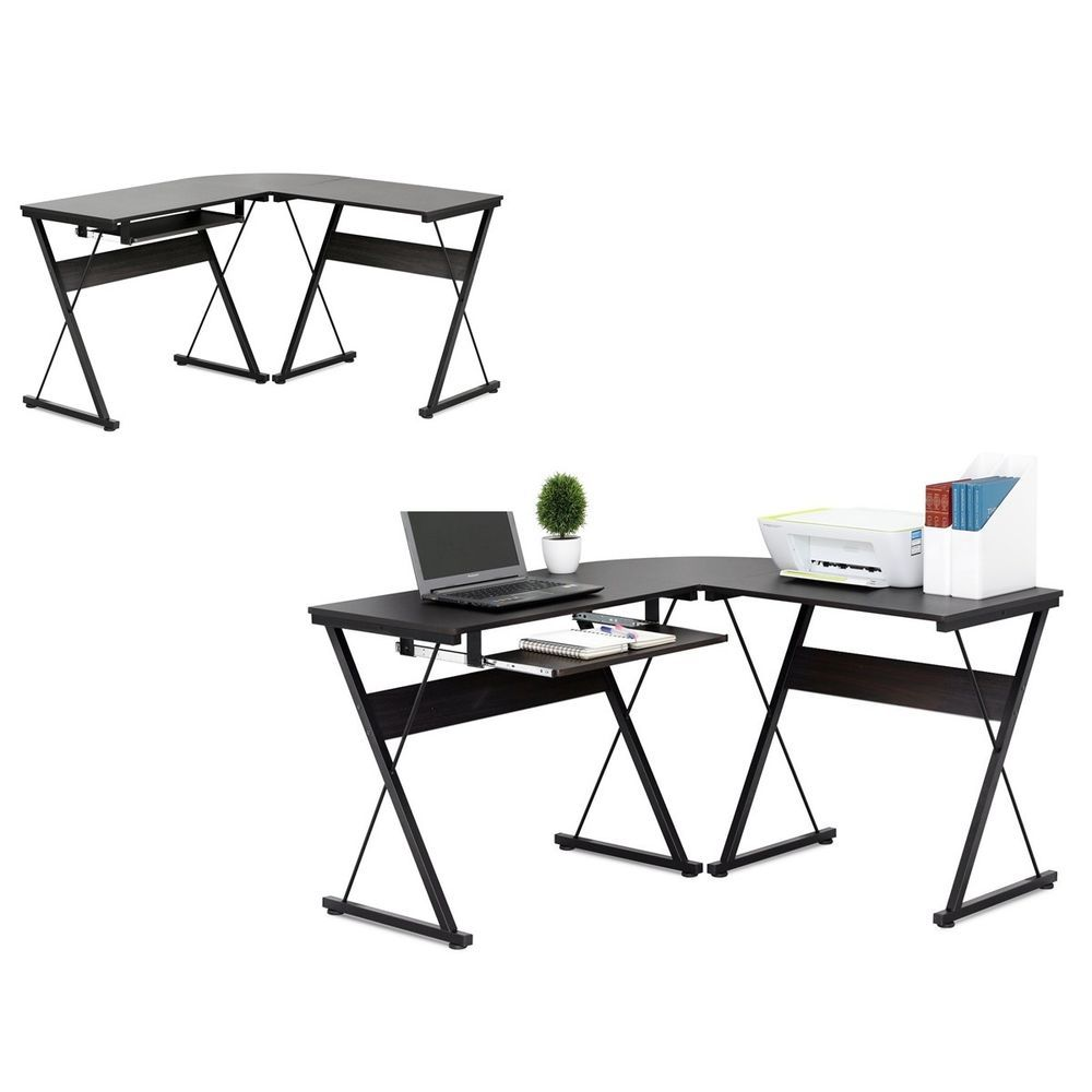 L-shaped computer laptop desk office home work study ...