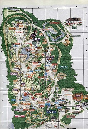 Nashville, TN - Opryland Amusement Park - spent several summers - best of world map countries picture
