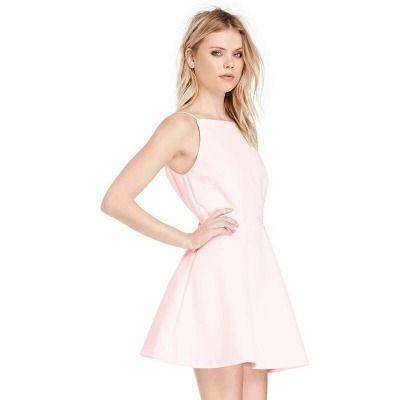 2d23bc40b Vestido Importado Rosa Con Espalda Libre -   750