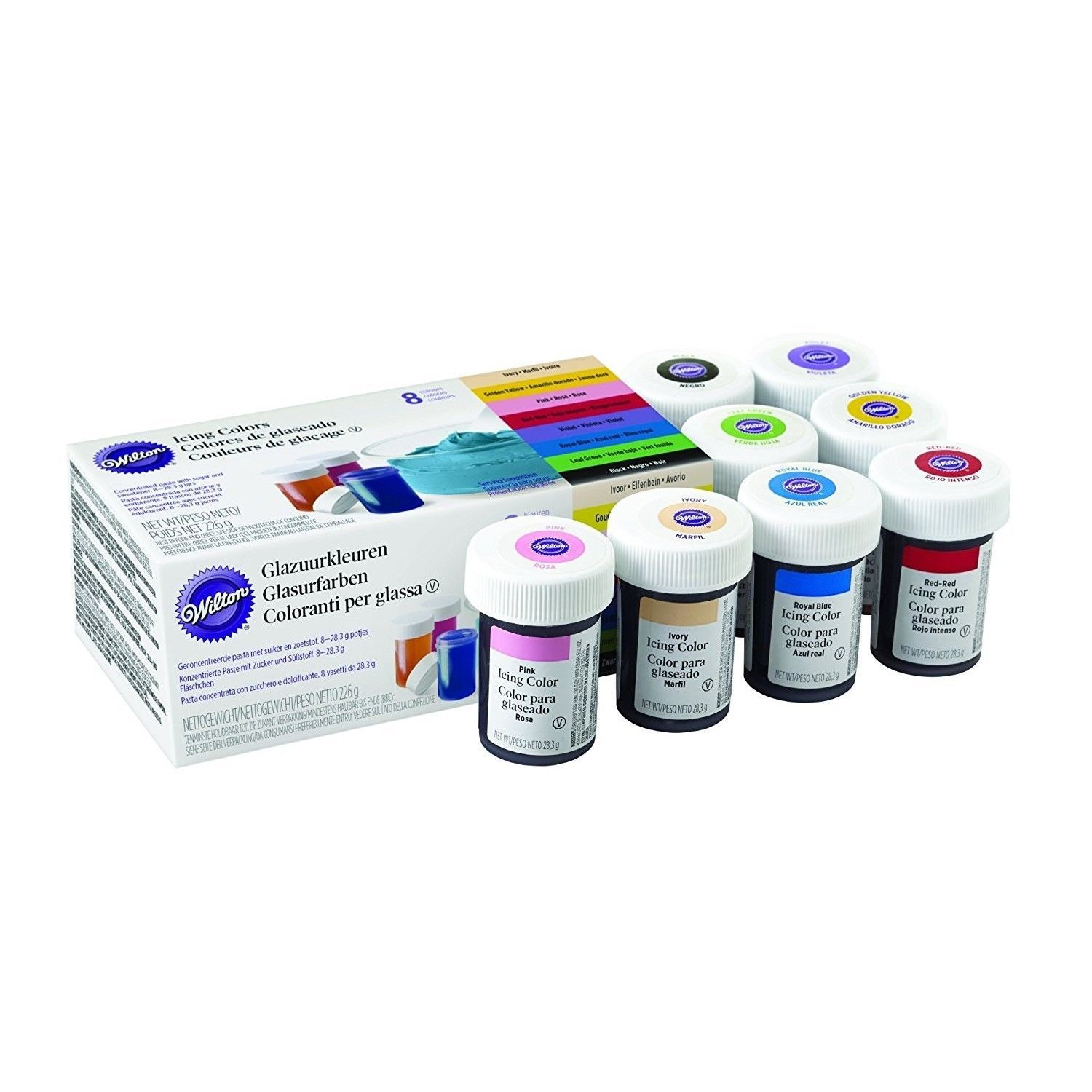 Wilton Icing Colour Gel Paste for Cake & Cupcake Decorating ...