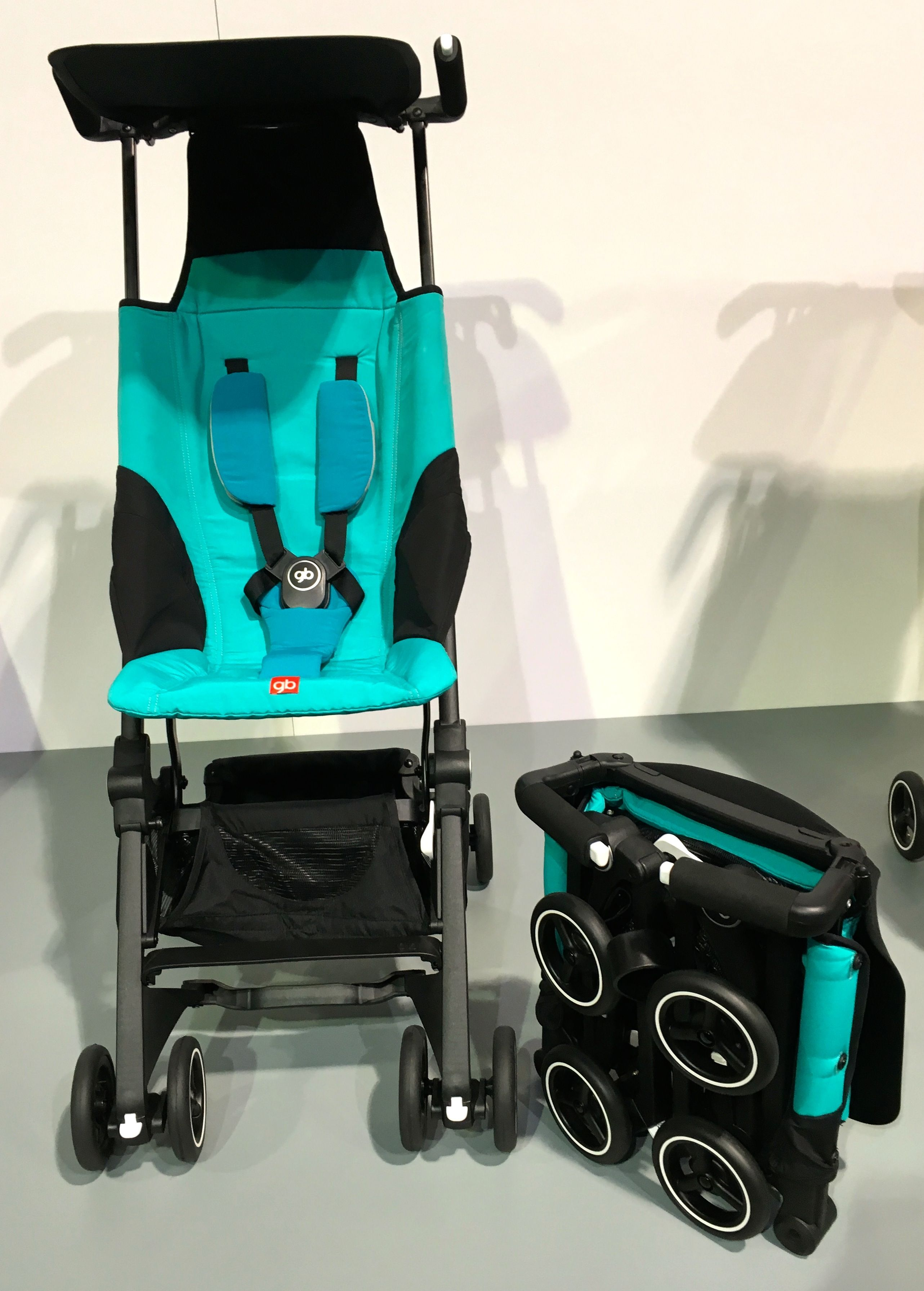 Another GB stroller, the Pockit folds into that tiny