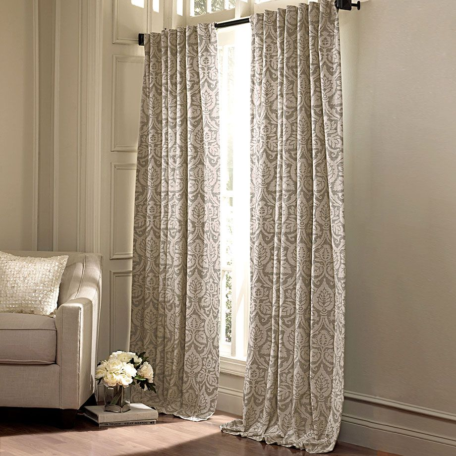 Tuesday Morning Waverly Damask Duet Panel PairNO GREEN Bedroom Drapes Curtains