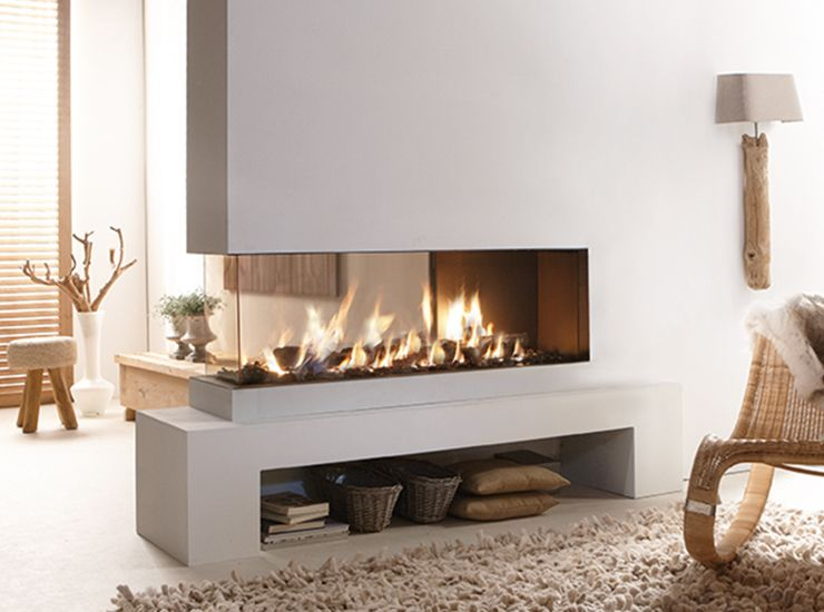 Genial Peninsula Style Contemporary Fireplace   Lucius 140 By Element4