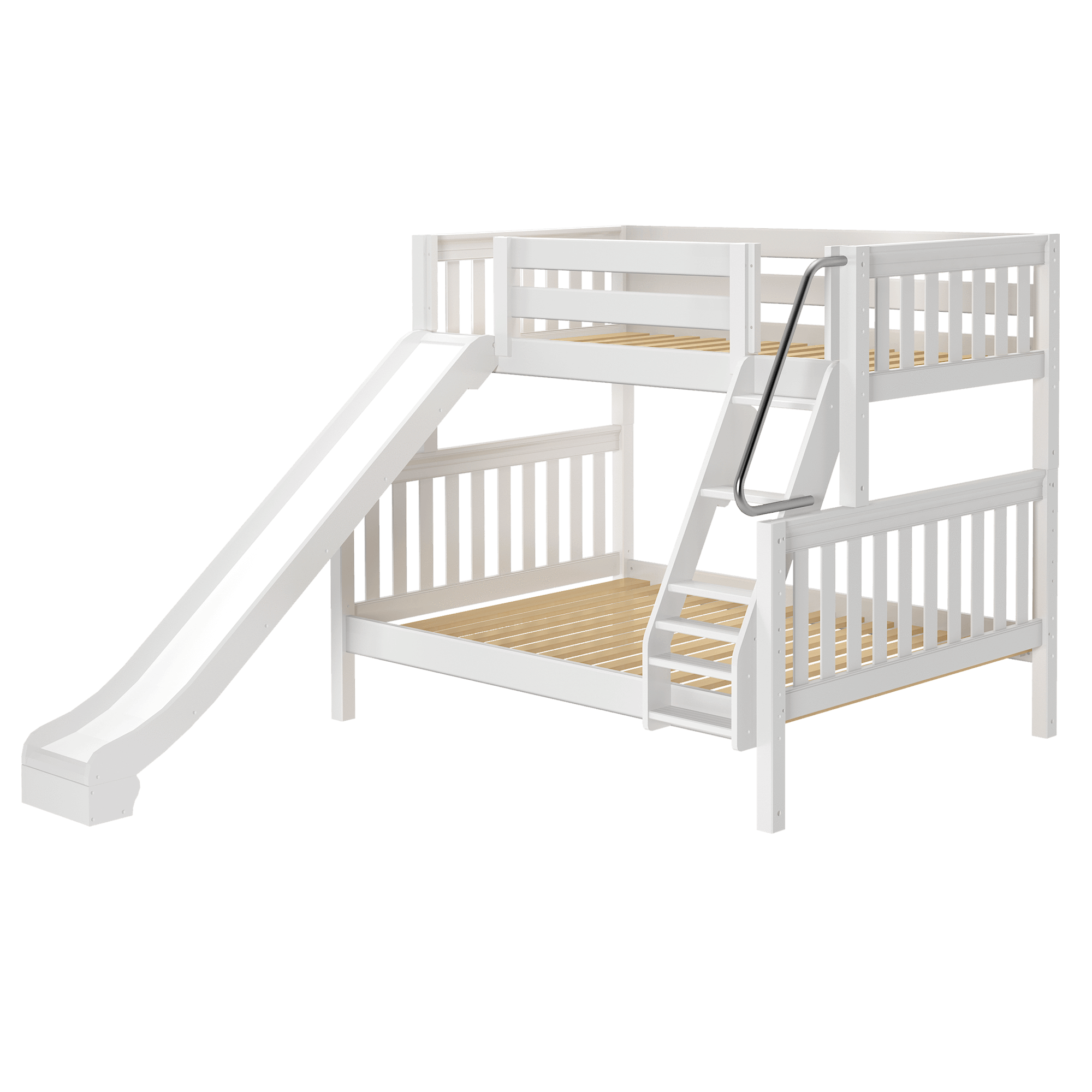 Twin Over Full Medium Bunk Bed Slide Bunk Bed With Slide Bed With Slide Bunk Beds