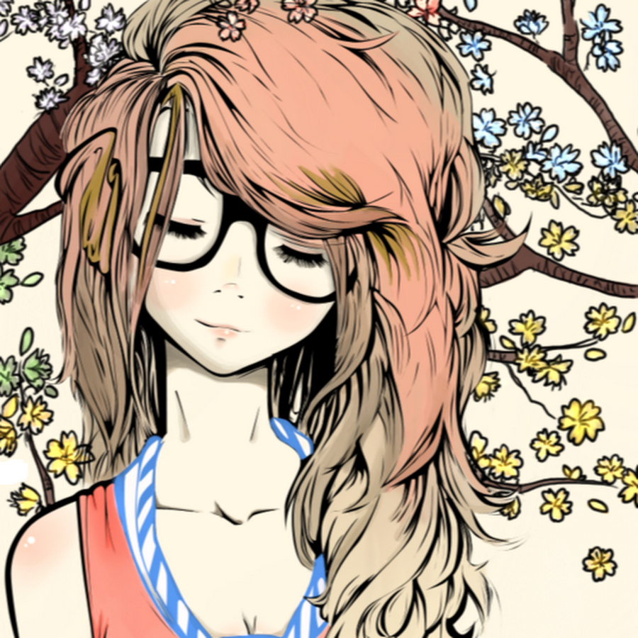 Girl with glasses Cute drawings, Cute girl drawing, Art