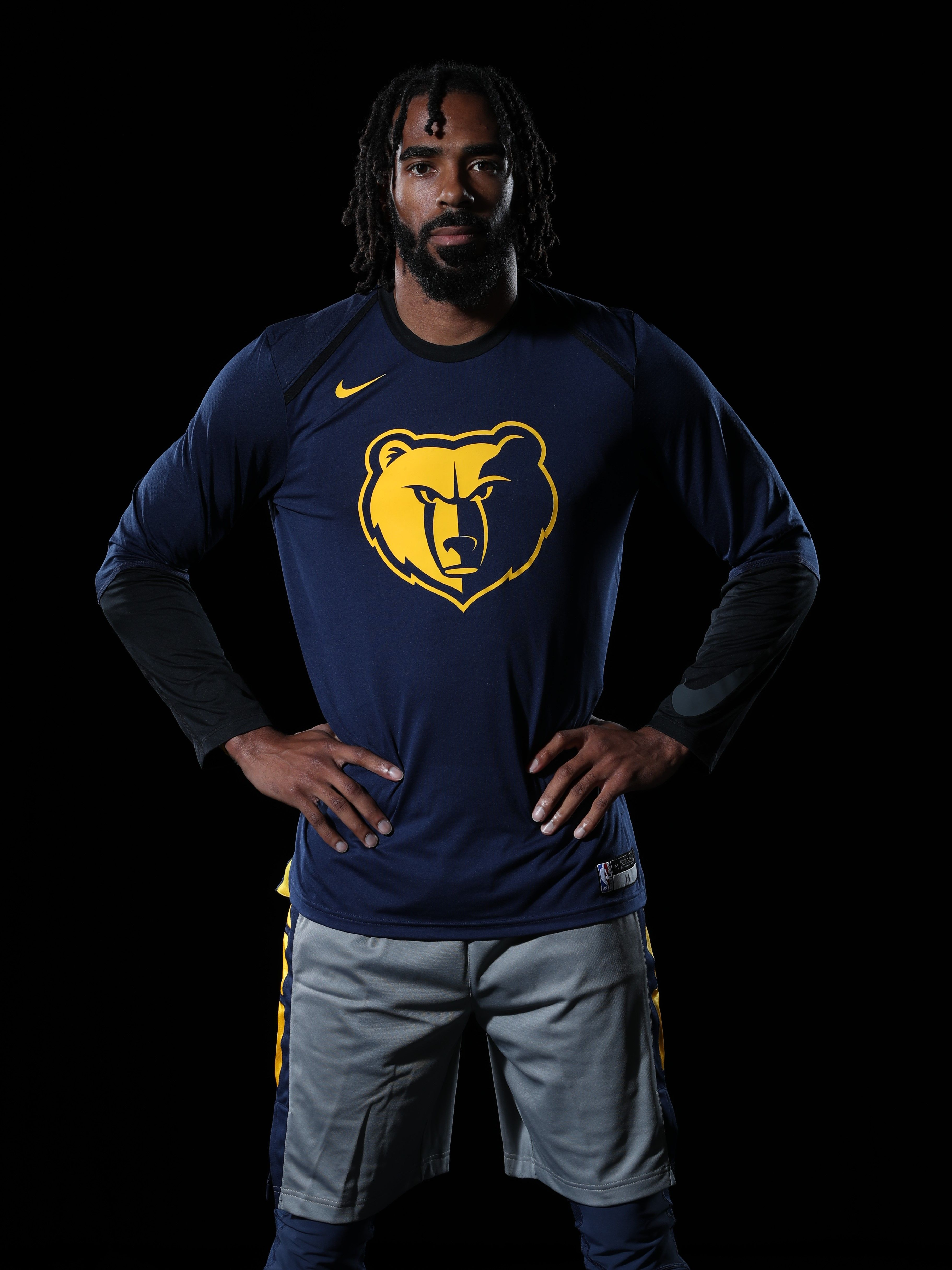 City Jersey Warmup Long Sleeve Tshirt Men Memphis Grizzlies Professional Sports