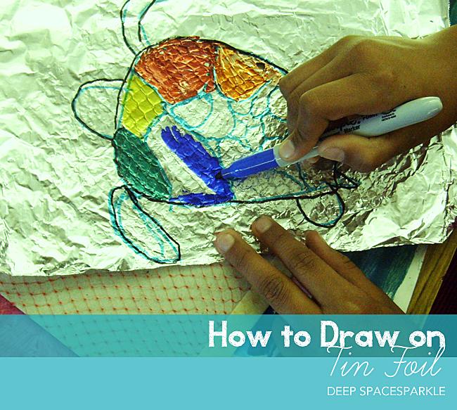 Foil Turtle and Fish Collage | Las texturas, Tortuga y Aluminio