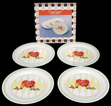 I Love Lucy 10\  Plates Set of 4 Lucy \u0026 Ricky Stick Figures by Vandor. $17.49. Licensed Product. 10\  Plastic Plates. Set of 4 Plates. New In Box.  sc 1 st  Pinterest & I Love Lucy 10\