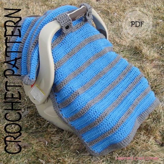 CROCHET PATTERN - Simply Sweet Car Seat Canopy / Blanket ...