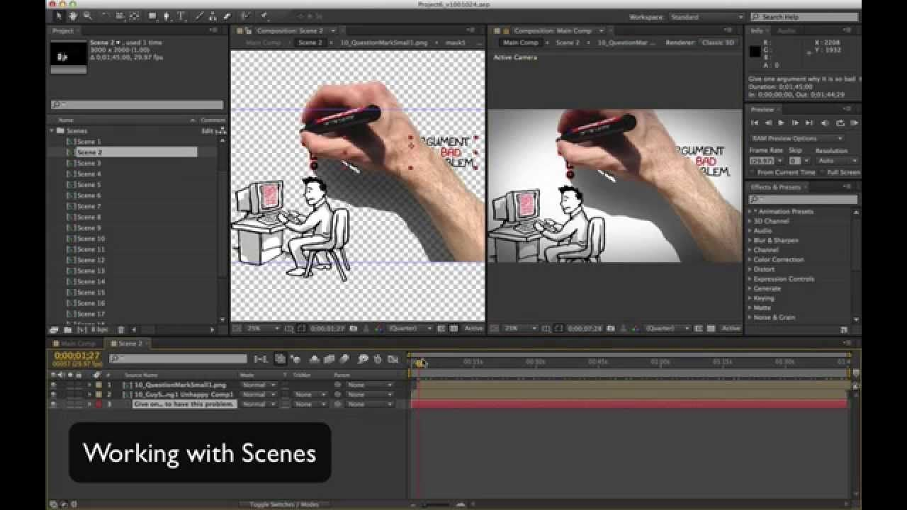 Tutorial V1 Whiteboard Hand Drawing Promo After Effects Cs6