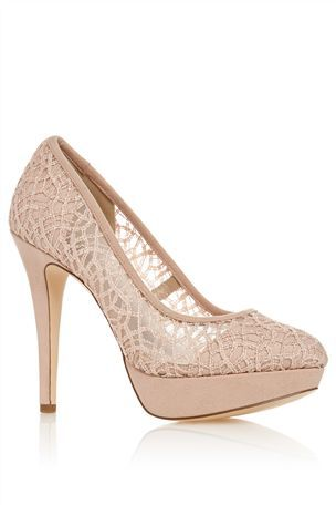 Buy Nude Lace Closed Toe Court Shoes from the Next UK online shop