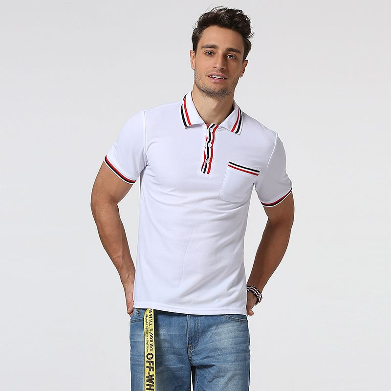 >> Click to Buy << 2017 Brand New Men Polo Shirt Short Sleeve Patchwork Design Men Slim fit Polo Shirt High Quality brand clothingpolo homme #Affiliate