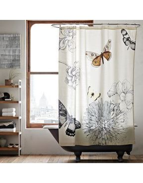 West Elm Butterfly Shower Curtain Butterfly Shower Curtain Modern Shower Curtains Fabric Shower Curtains