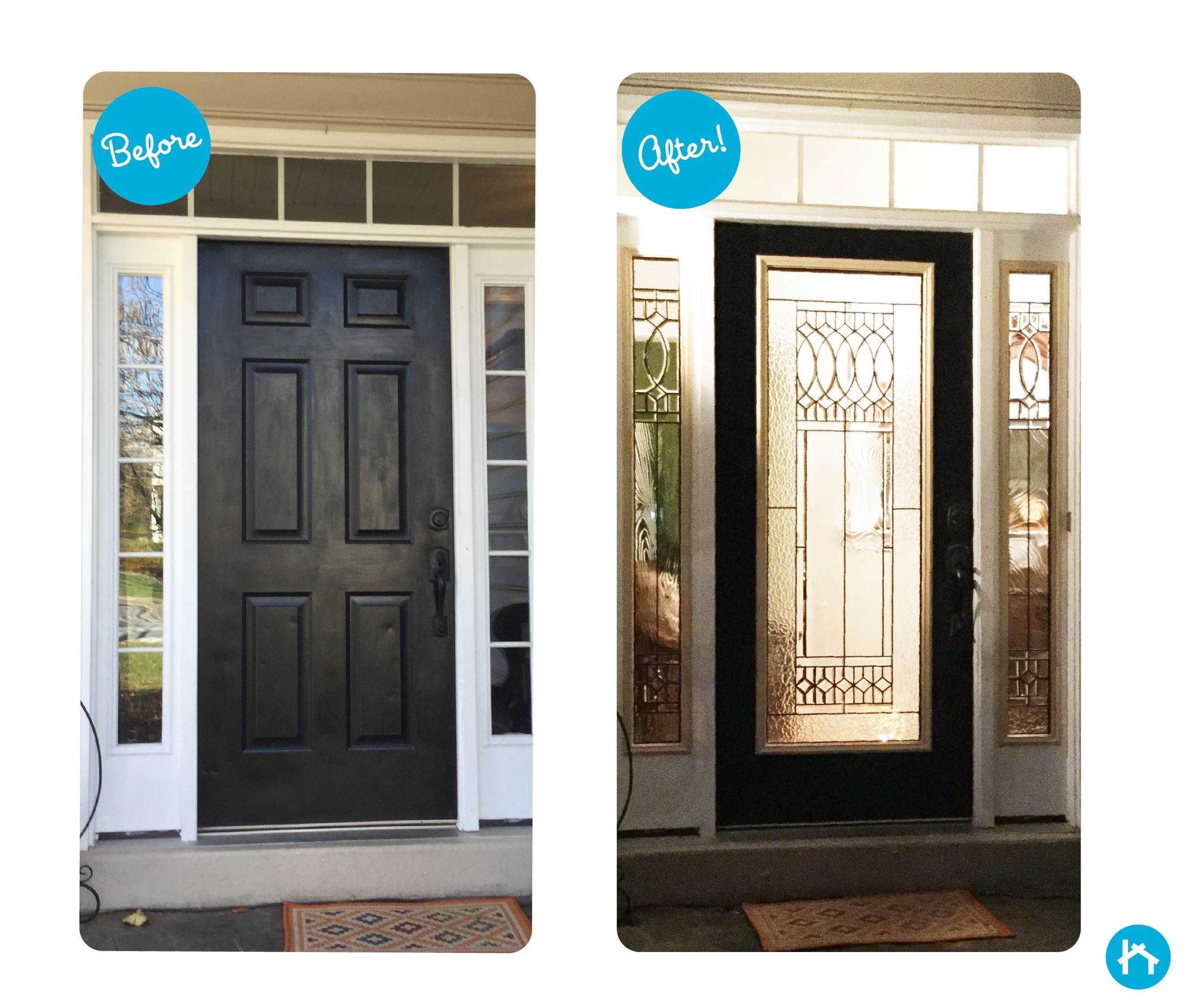 Transform Your Door With Decorative Door Glass Add Or Replace Your Door Glass In Less Than An Hour Front Door Glass Insert Door Glass Inserts Glass Door
