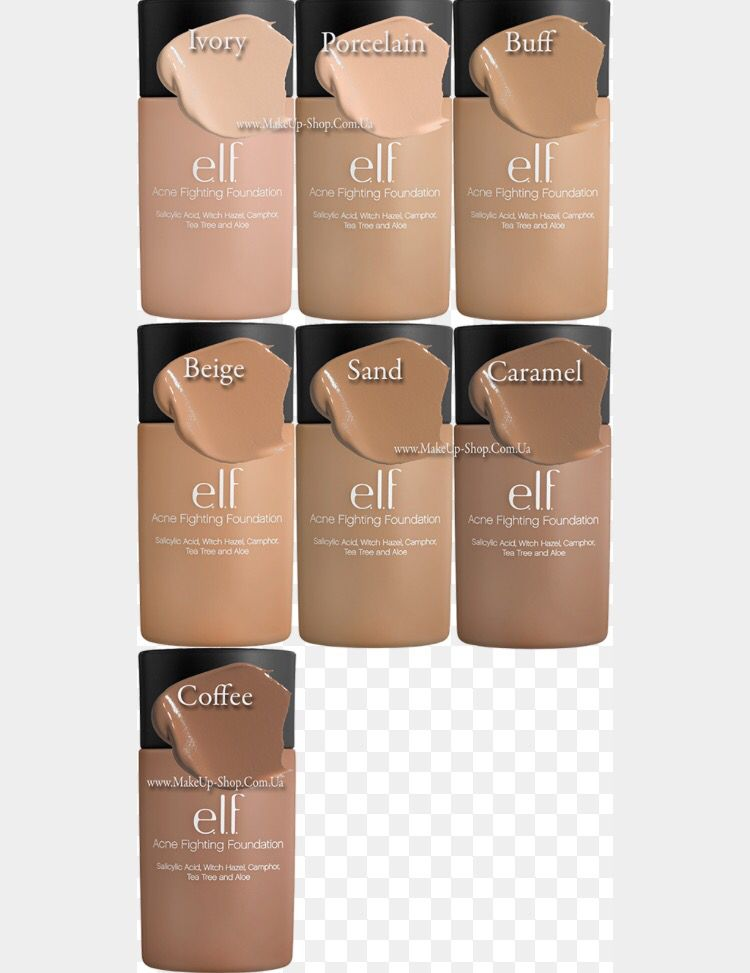 Elf acne fighting foundation swatches | Beauty in 2019