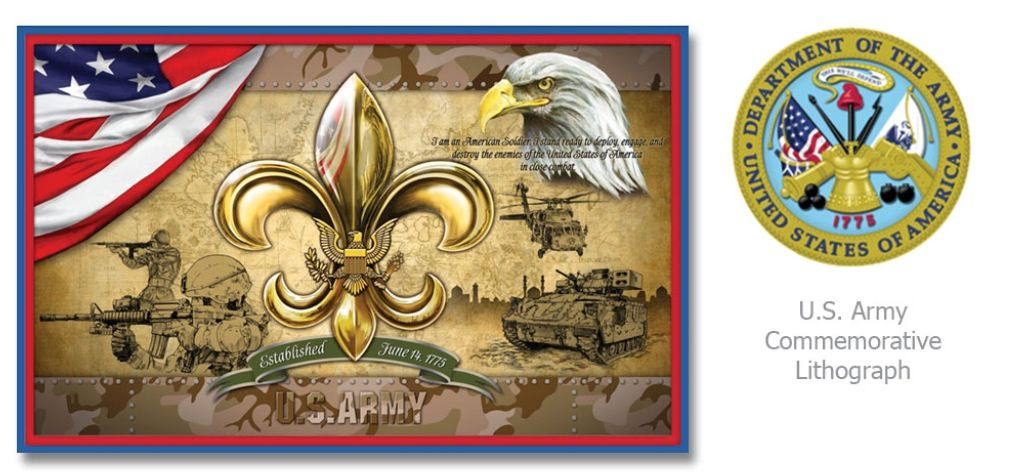 United States Army Commemorative Lithograph #usa  Check Facebook and www.huntstudio.com for special promotions