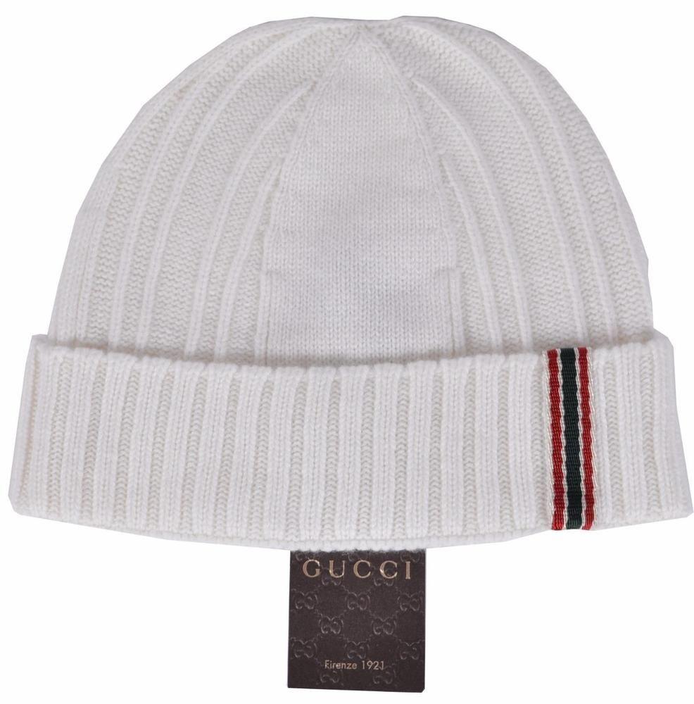 6342e6fac New gucci mens white cashmere red green web beanie ski hat gucci beanie jpg  986x1000 Gucci