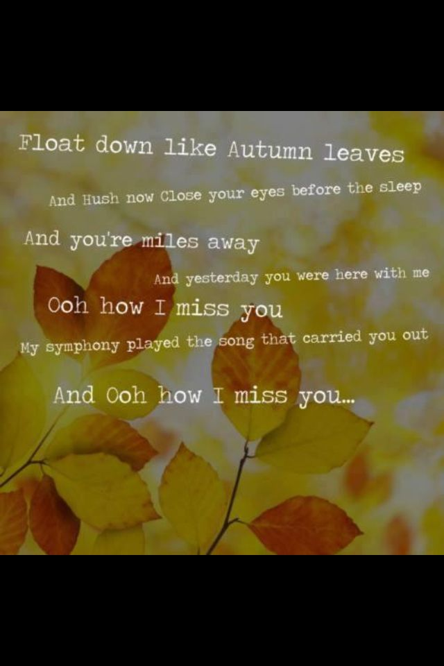 Autumn Leaves - Ed Sheeran, I put my headphones in and listen to ...
