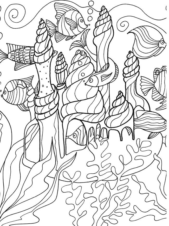 Pin By Sherry Bucalo On Colouring Pages Dover Coloring Pages Coloring Books Fish Coloring Page
