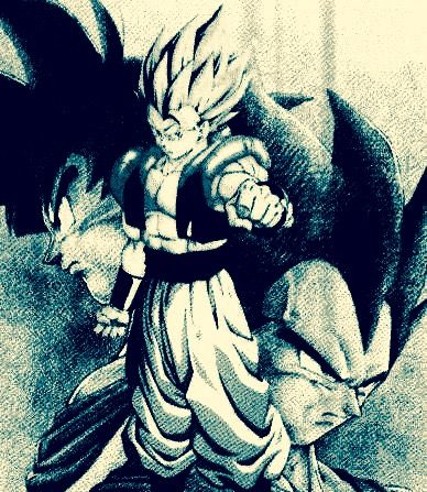 Drew this tonight on a napkin with a blue and black ink pin. But originally I began in light pencil. Took forever and some of the ink smeared when I was doing Goku and Gogeta. But I played with it and applied it for shadows for everybody just by continuing the same method. Originally I didn't like how dark it was or anything. But, I've warmed up to it. We were out of paper at the time and I was looking at images of Dragon Ball Z like I usually do and spent (what I'm not overly proud of) the…