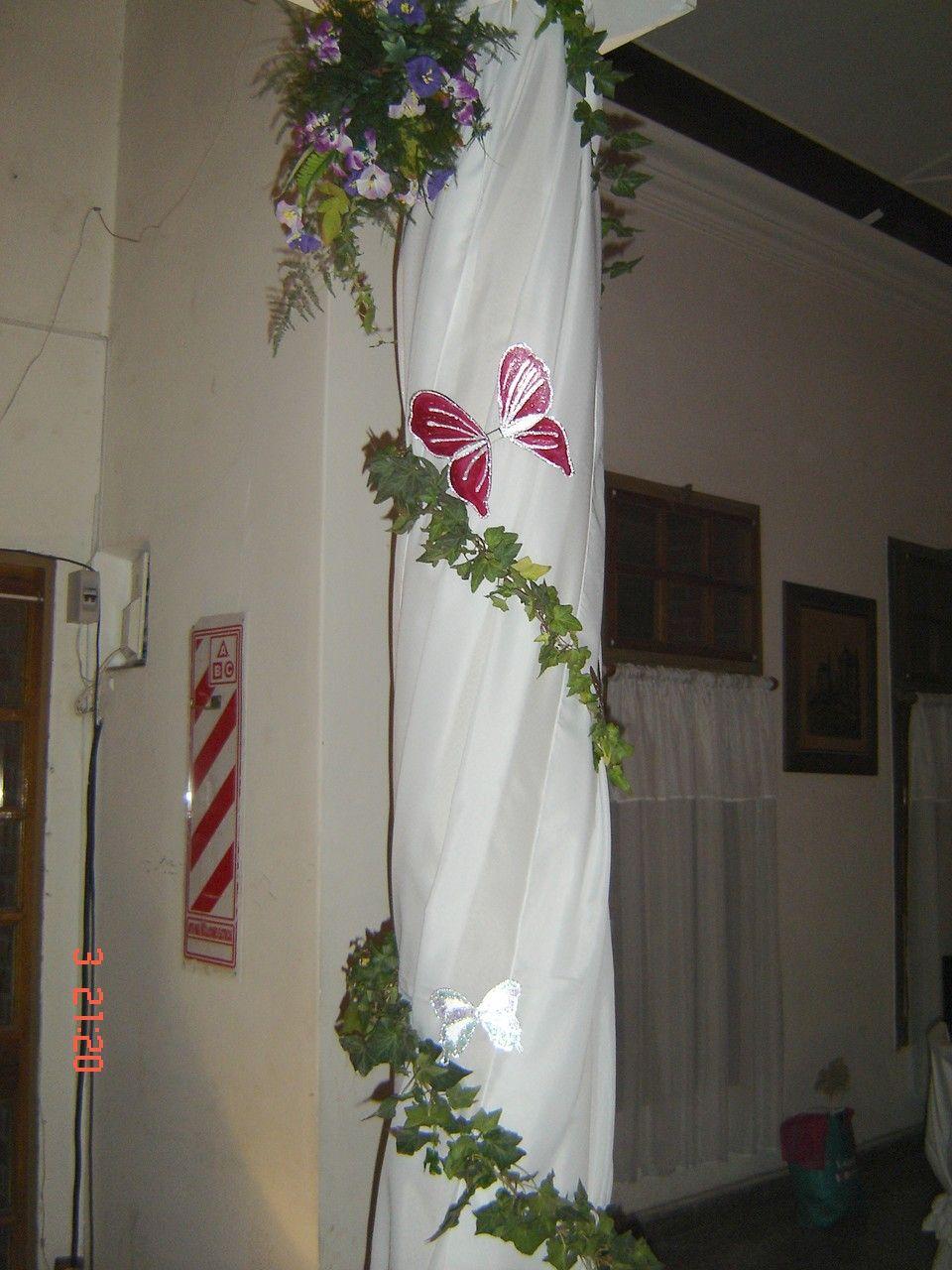 Decoracion salon 15 a os detalle columna planificando fiestas quinceanera wedding y decor - Decoracion columnas salon ...