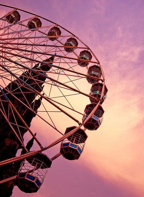 Pink Fairground Wheel