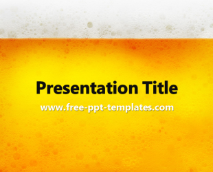 beer powerpoint template is yellow template with appropriate