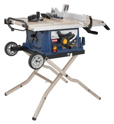 Nice Factory Reconditioned Ryobi Zrrts30 10 In Table Saw With Wheeled Stand Sierra De Mesa Mesas Carpinteria