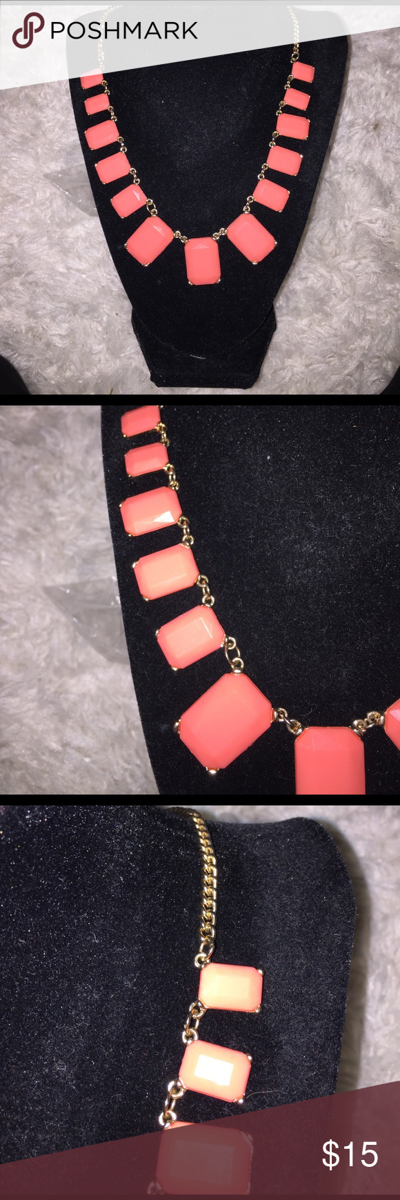 Orange Necklace Beautiful orange necklace with gold chain- pair with dress or cute shirt! Jewelry Necklaces