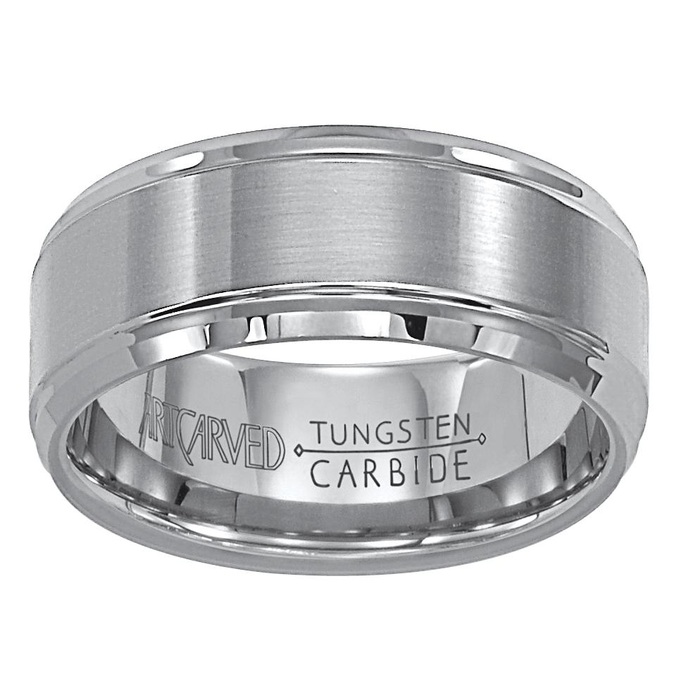 Artcarved Satin Finish Tungsten Carbide Mens Wedding Band