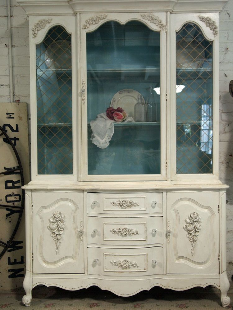 shabby chic china cabinets painted cottage chic shabby china rh pinterest com shabby chic china cabinet makeover shabby chic china hutch