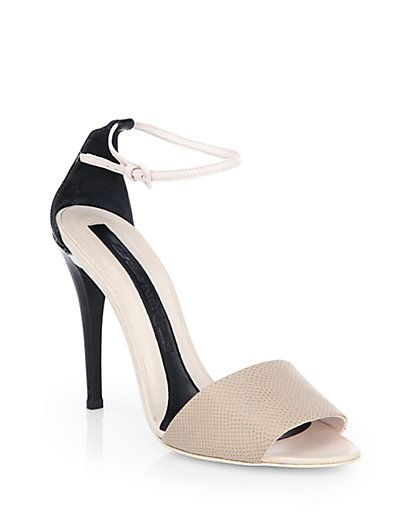 outlet largest supplier free shipping comfortable Narciso Rodriguez Metallic Ankle Strap Sandals big sale online looking for for sale where can i order dqY6SPzl