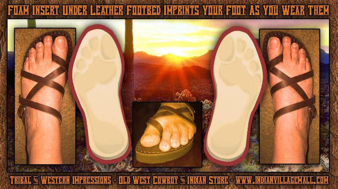 a5cba7f1ec27f9 Handmade Ancient Full Leather Woodstock Desert Sandal - Self Adjusting  Strapping System And Custom Foam