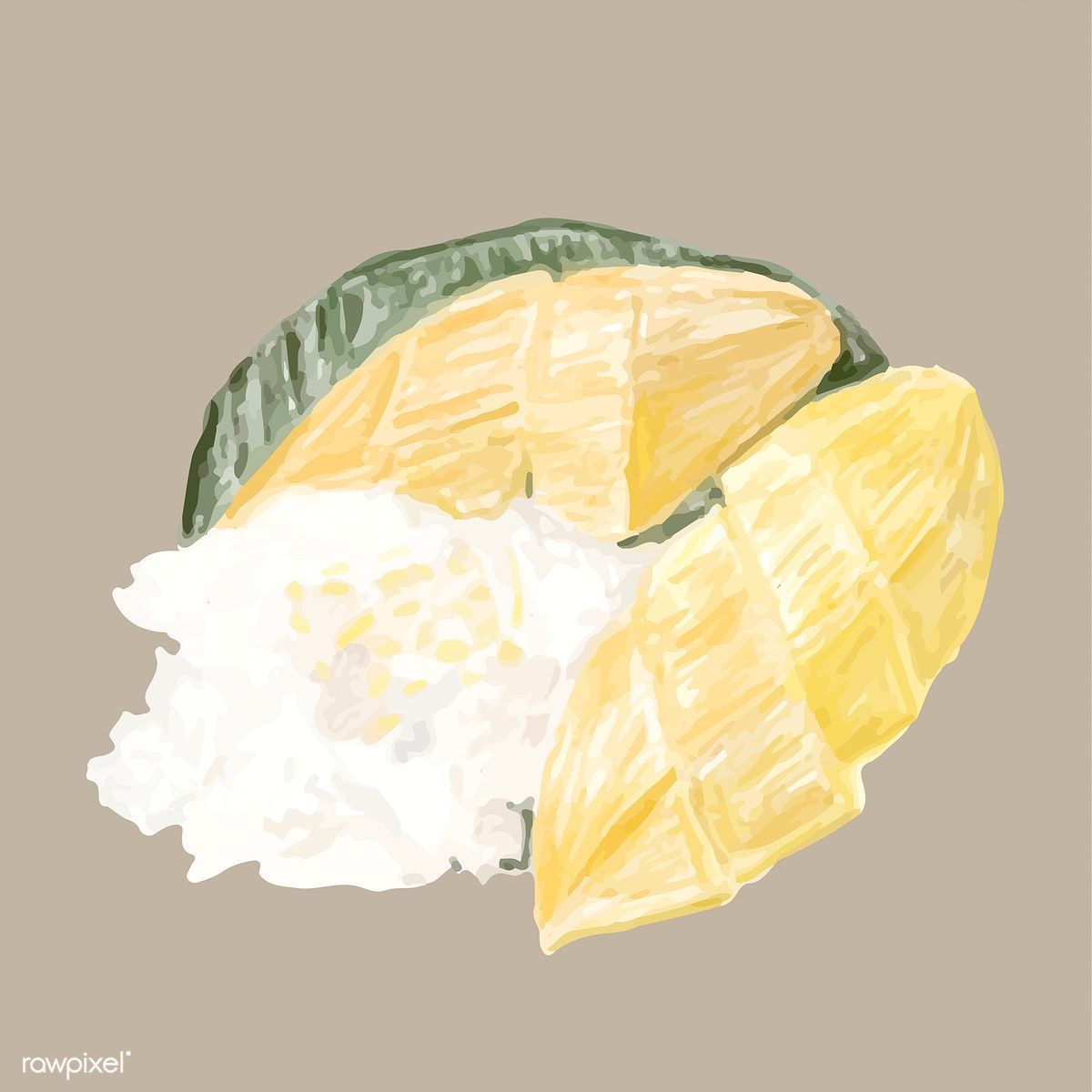 Hand Drawn Thai Dessert Watercolor Style Free Image By Rawpixel Com